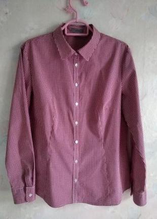 Рубашка montego в клетку р.l -xl eur44, хлопок