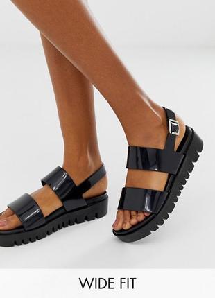 Силиконовые босоножки сандалии на платформе асос