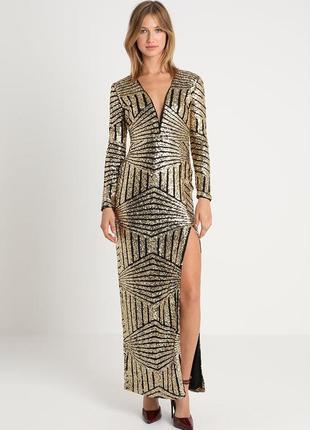Вечернее/ нарядное платье в пайетки rare london,p.l