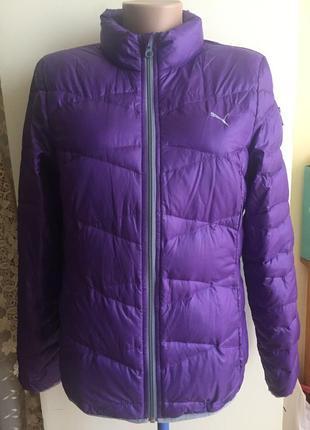 Фирменная пуховая легкая стильная молодежная курточка puma