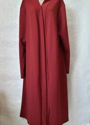 Новый шикарный sophie нарядный кардиган в сочном цвете бордо/марсала, размер 7хл+