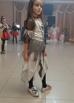 Карнавальное платье (ведьмочка,привидение)на 7-8лет