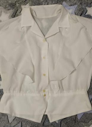 Стиль 1970-х, винтаж, блузка из магадана,  легкая, воздушная, семидесятые