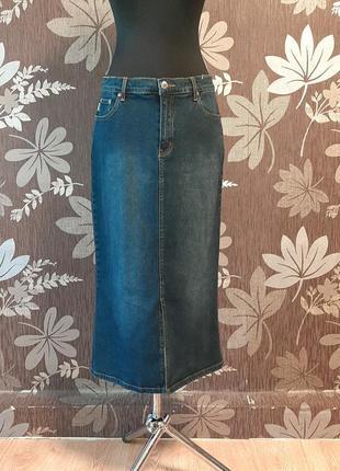 Стильна джинсова юбка миди sexy