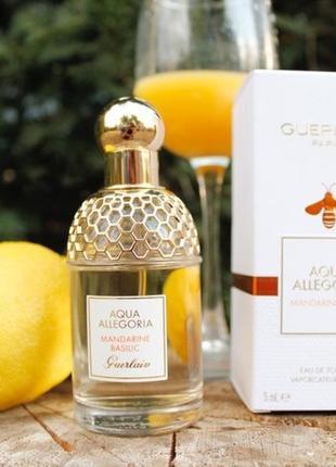 Guerlain aqua allegoria mandarine basilic_original mini 5 мл_затест