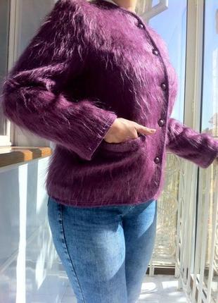 Пушистый жакет. куртка. кофта. кардиган. пиджак . полу-пальто.