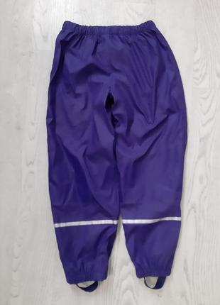 Тёплые штаны на флисе непромокайки со штрипками лупилу