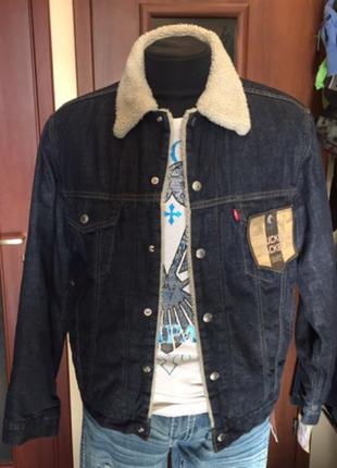 Джинсовая куртка levi's sherpa из сша, размеры, levis,100% оригинал.1 фото