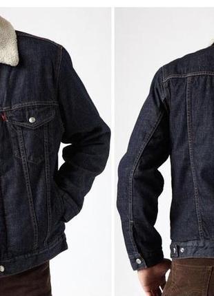 Джинсовая куртка levi's sherpa из сша, размеры, levis,100% оригинал.2 фото