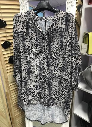 Классическая удлиненная блуза made in italy