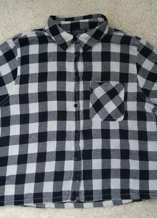 Рубашка в клітку короткий рукав