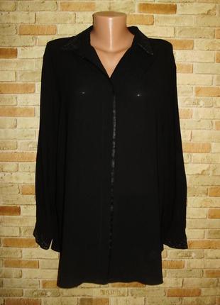 Классическая блуза с отделкой люрексом на вороте и манжетах 20/54-56 размера