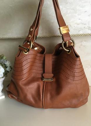 Кожаная сумка бренд jimmy choo alex handbag