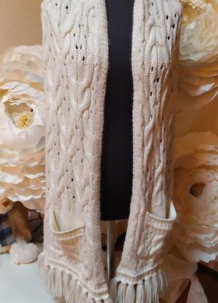 Онромный шарф с карманами