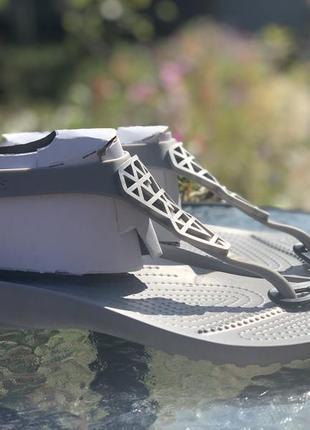 Сандалии, флипы крокс crocs serena flip 37 размер