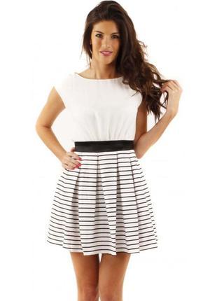 Новое красивое стильное платье little mistress в полоску р. 52-54/18/xxl-3xl