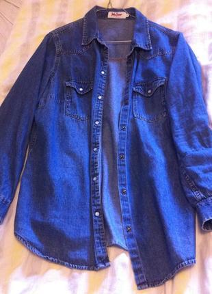 Джинсовая рубашка большого розмера, john baner 46 розмер- 3 xl-54