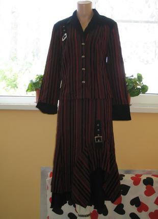 Красивый костюм юбка с жакетом