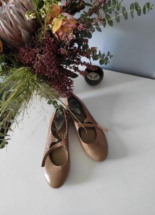 Кожаные туфли балетки mary jane (мэри джейн)