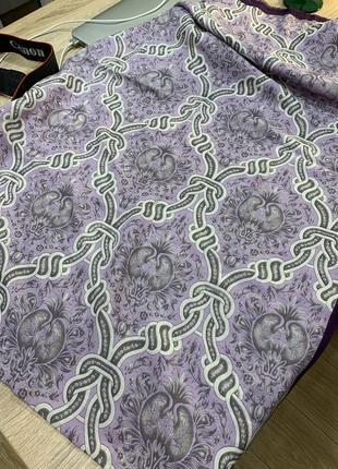 Шарф vakko шёлк 70% шерсть 30%  нежный  фиолетовый цвет   190 см длина 67 см ширина