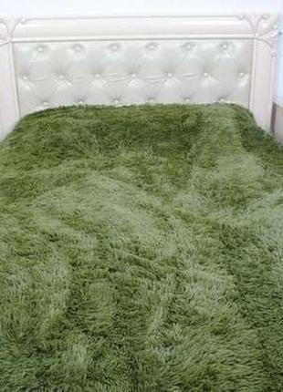 Шикарный плед травка зеленый