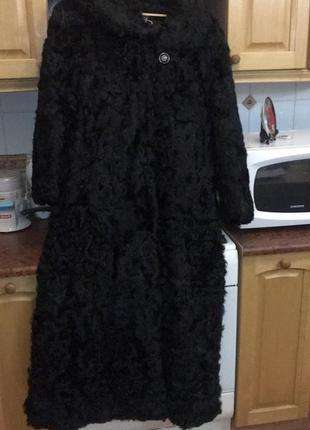 Шуба женская из козочки большого размера