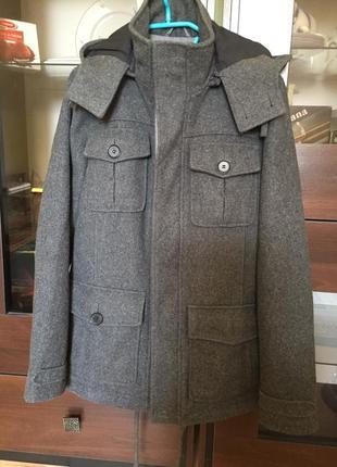 Кашемировое пальто куртка topman