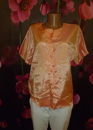 Рубашка с коротким рукавом натуральный шелк