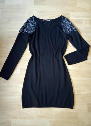Удлененный свитер платье теплое туника