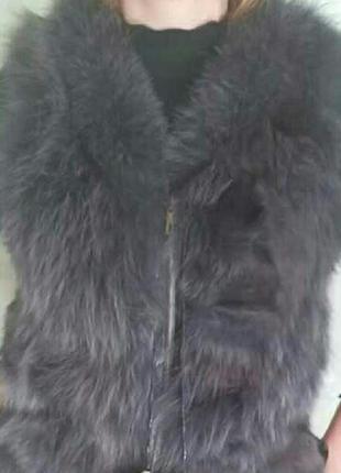 Натуральный песец жилетка