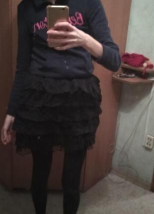 Мини юбка, юбка-пачка кружевная