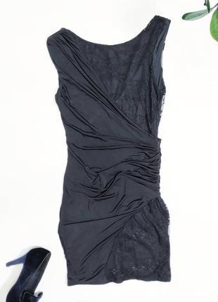 ❤️эластичное чёрное платье