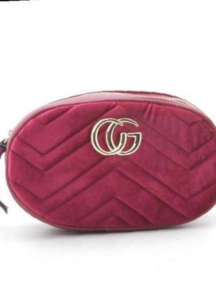Супер цена!!! бархатная сумка на пояс