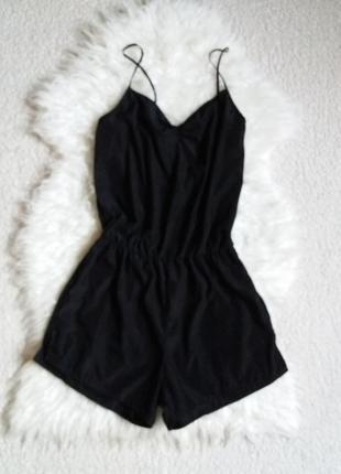 Черный ромпер комбинезон шортами american apparel