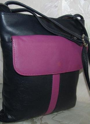Стильная , удобная сумка 100 % кожа - melissa -