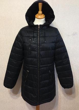 Куртка демисезонная colin's жен. удлиненная с капюшоном,р.s-m