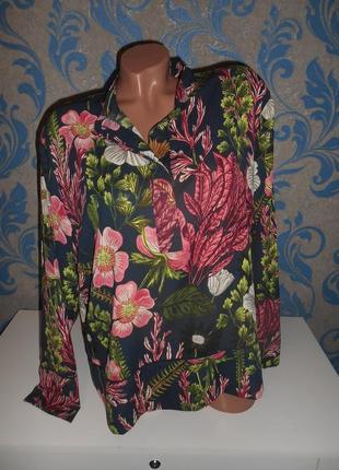 Плотненькая шифоновая блуза, пог 61 см.