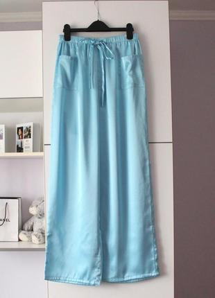 Голубые домашние брюки