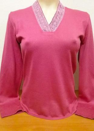 Шикарный свитер# джемпер цвет розовый пион от burton, p.m/l