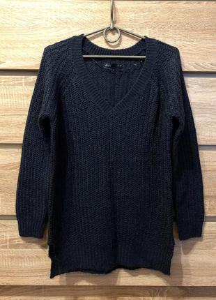 Супермягкий свитер темно синего цвета