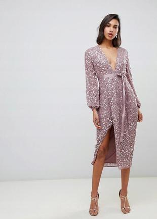 Asos лавандова сукня вся в паєтках доставка сутки