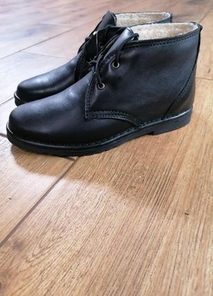 Кожаные ботинки дезерты. утеплённые. inblu