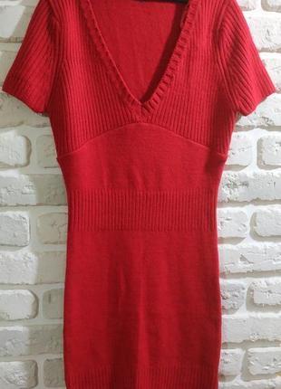 Теплое вязаное облегающее платье tally weijl, размер xs