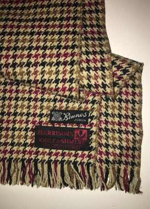 Кашемировый шарф harrison's унисекс винтаж