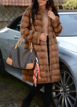 Норковая шуба поперечка цвет соболь норка saga furs аукцион италия новая коллекция