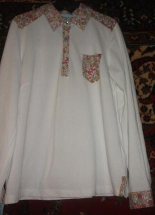 Рубашка,кофта в цветы mona