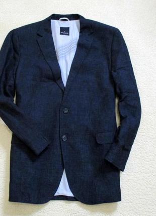Мужской стильный льняной пиджак