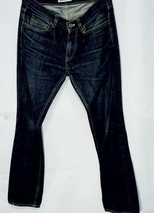 Acne jeans джинсы мужские оригинал плотные темно синие размер 30/32