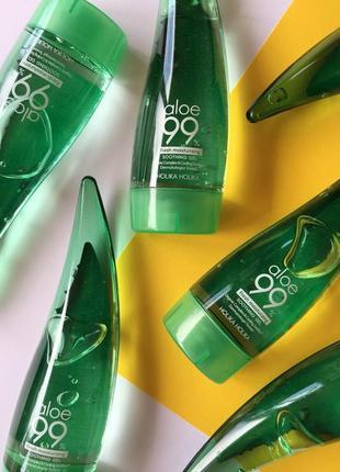 Увлажняющий успокаивающий гель алое holika holika aloe soothing gel 99%