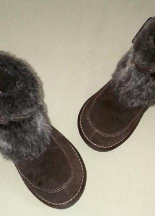 Ботинки spirit европейская зима, натуральный замш